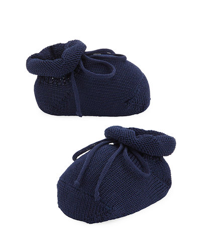 Basic Cotton Bootie w/ Bow, Infant