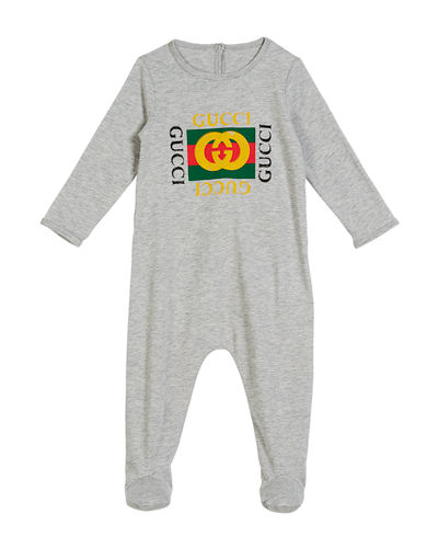 60595da0cdc Quick Look. Gucci · Long-Sleeve Vintage Logo Footie Pajamas