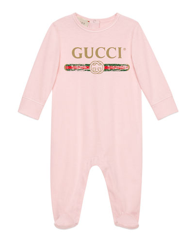 5a8b3a19df5 Quick Look. Gucci · Long-Sleeve Logo Footie Pajamas