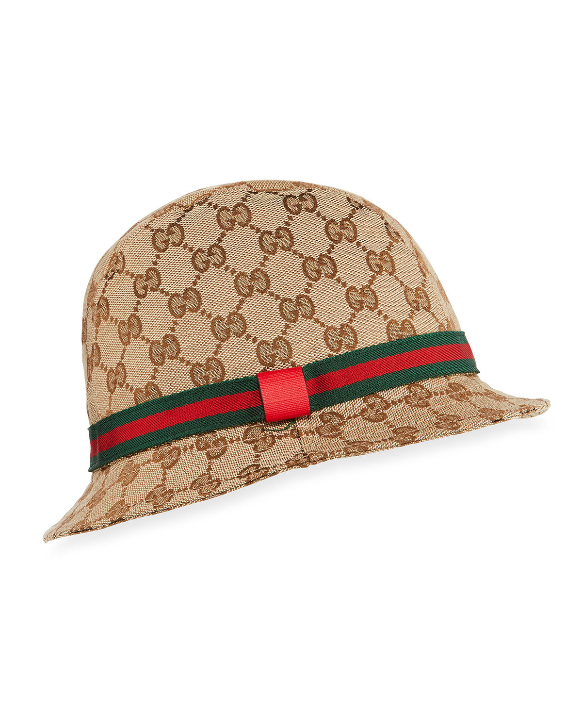 Gucci Kids  GG Supreme Canvas Bucket Hat w  Web Hat Band  aa34efb73f5