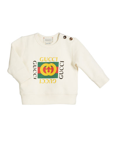 341a98c473d Quick Look. Gucci · Vintage-Logo Cotton Sweatshirt ...