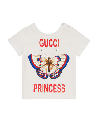 Gucci Gucci Princess Butterfly T-Shirt, Size 6-36 Months