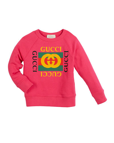 Long-Sleeve Logo Sweatshirt  Size 4-10