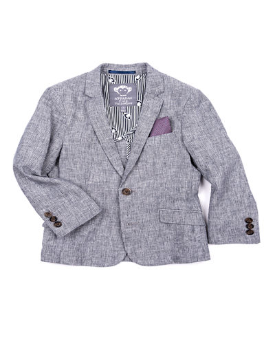 Boys' Cotton-Stretch Blazer,  Size 2-14