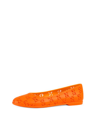 Rubber GG Supreme Cutout Ballet Flat, Toddler/Youth Sizes 10T-2Y
