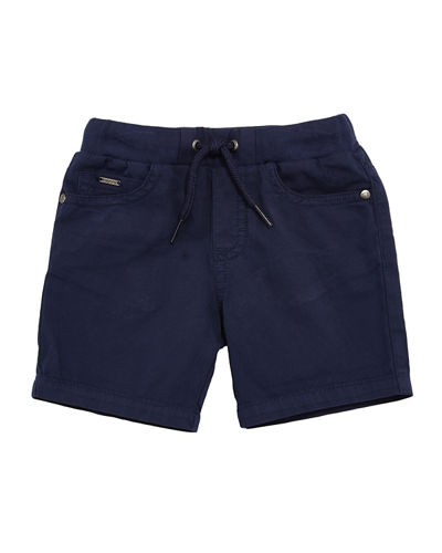 Twill-Stretch Drawstring Shorts, Size 6-36 Months