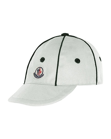 Moncler Kids' Twill Baseball Cap w/ Contrast Piping