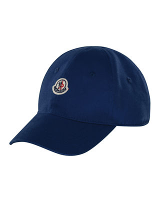 Moncler Kids' Cotton Twill Baseball Cap