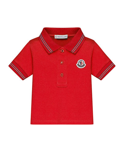 Short-Sleeve Tipped Polo Shirt, Size 12M-3T