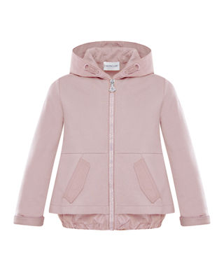 Moncler Hooded A-Line Zip-Up Cardigan, Size 8-14