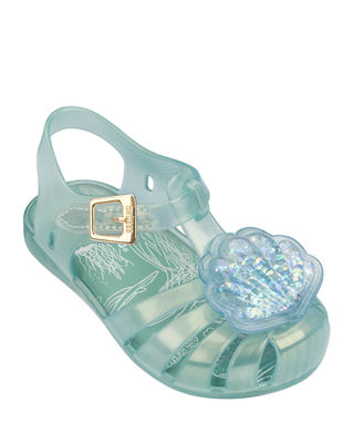 Mini Melissa Mini Aranha XII Seashell Cutout Sandal,