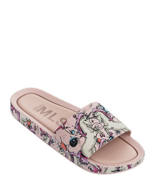 Mel Beach Slide Flamingo Sandal, Kids