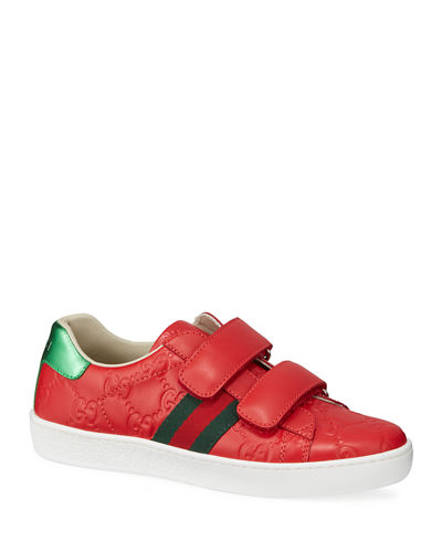 New Ace GG Supreme Leather Sneakers, Kids