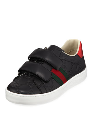 Gucci GG Supreme Leather Sneakers, Toddler/Kids