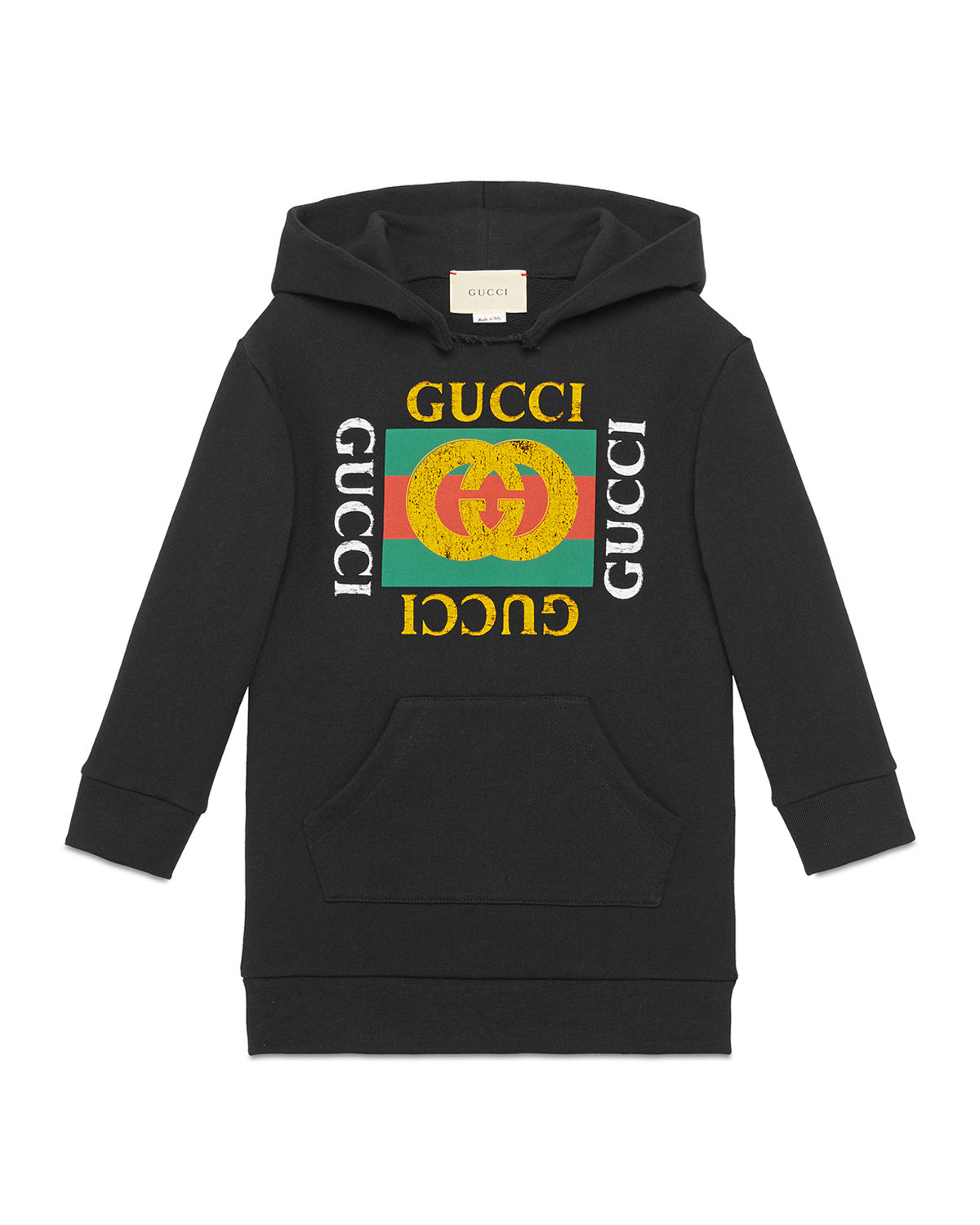 f876b0191b27 Gucci Hooded Sweatshirt Dress w  Vintage Logo