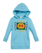 Gucci Hooded Sweatshirt Dress w/ Vintage Logo, Size