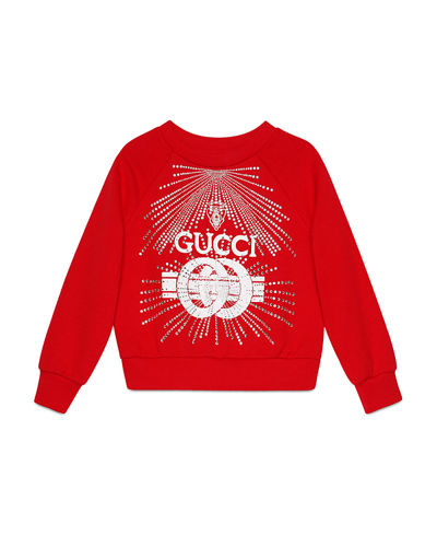 a19a32272ec Quick Look. Gucci · Logo Buckle-Print Sweatshirt ...