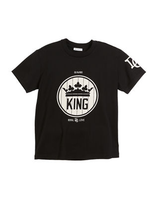 Dolce & Gabbana King Logo Short-Sleeve T-Shirt, Size