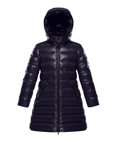 Moka Quilted Puffer Coat w/ Hood, Size 4-6