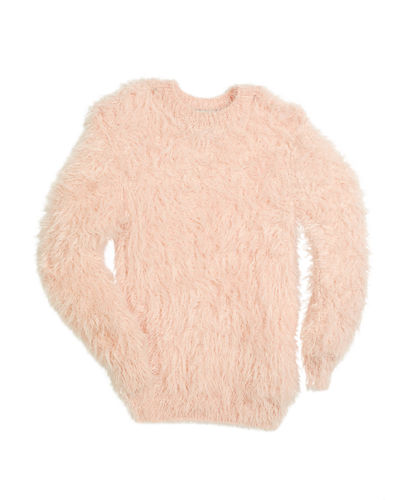 Fuzzy Mock-Neck Sweater, Size 6-16