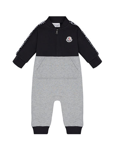 moncler junior grey stripe track jacket