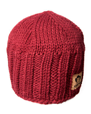 APPAMAN Boys' Rocky Knit Beanie Hat in Red