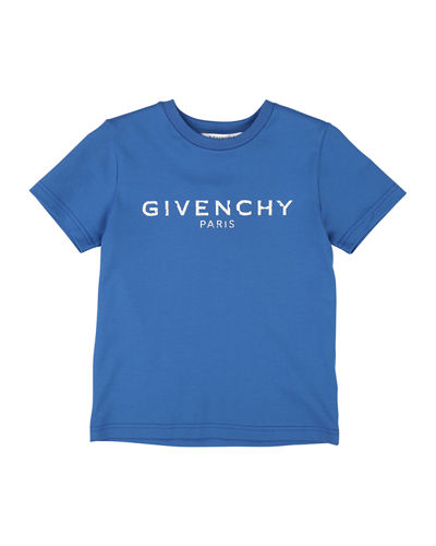 Givenchy Distressed Logo Graphic Tee, Size 4-10