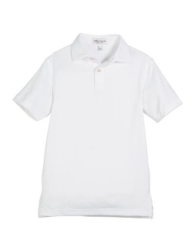 Solid Stretch Jersey Polo Shirt, Size XS-XL