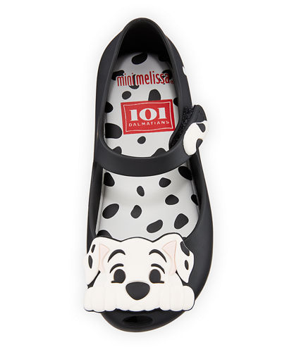Mini Melissa Ultragirl + 101 Dalmatians Mary Jane Flats, Toddler