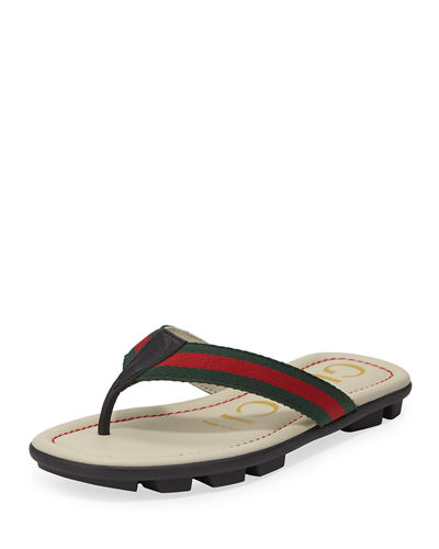 78217a9ef Quick Look. Gucci · Titan Web   Leather Sandals ...