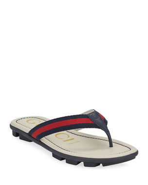 new products c669c 91846 Gucci Titan Web   Leather Sandals, Toddler Kids