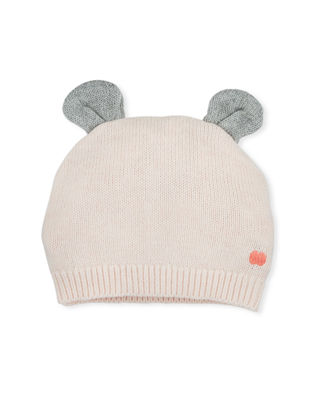 BONNIEMOB Knit Baby Hat W/ Ears in Pink