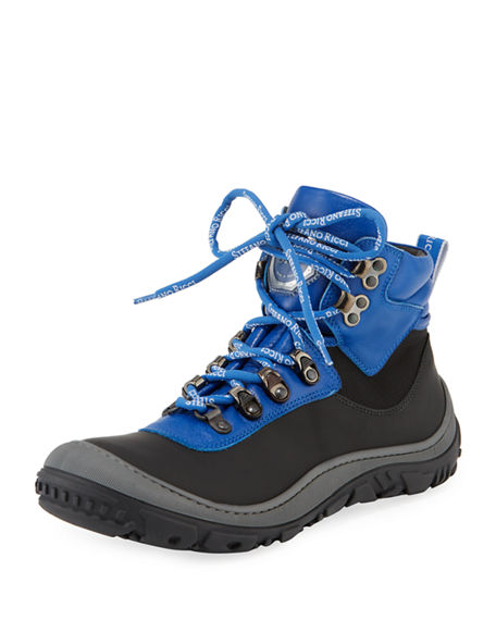 Image 1 of 4: Stefano Ricci Leather Logo-Laces Ski Boots, Kids