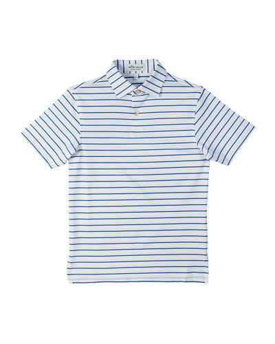 Stretch Jersey Market Stripe Polo, Size XS-XL