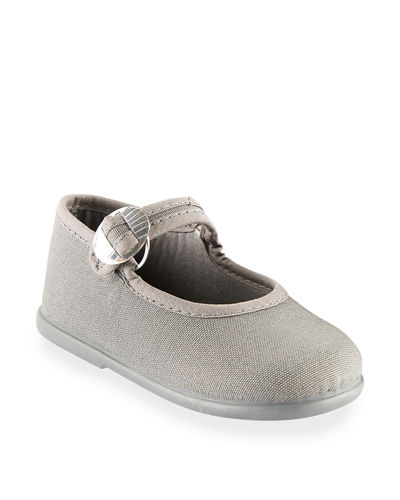 Cotton Canvas Buckle Mary Jane, Toddler/Kids