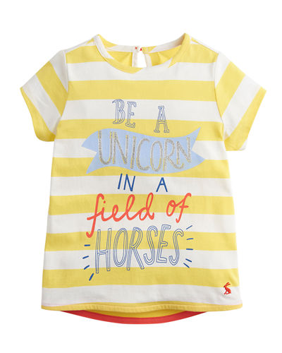 Pixie Striped Be A Unicorn Tee  Size 2-6