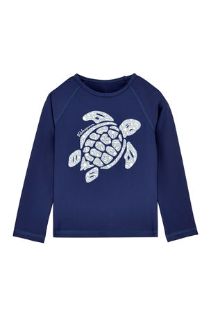 Vilebrequin Glassy Sea Turtle Rash Guard, Size 2-14
