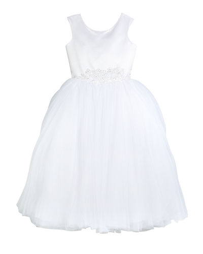 Satin & Tulle Tea Length Dress  Size 4-10