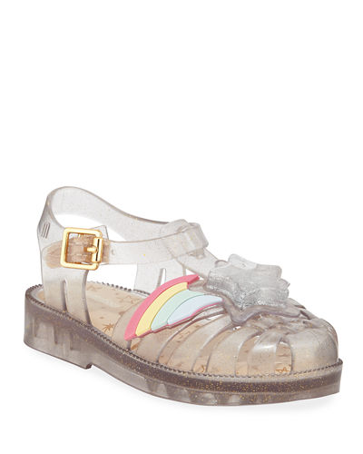 Possession III Glittered Star Cutout Sandal  Baby/Toddler/Kids