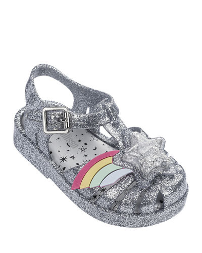 Possession III Glittered Star Cutout Sandal, Baby/Toddler/Kids