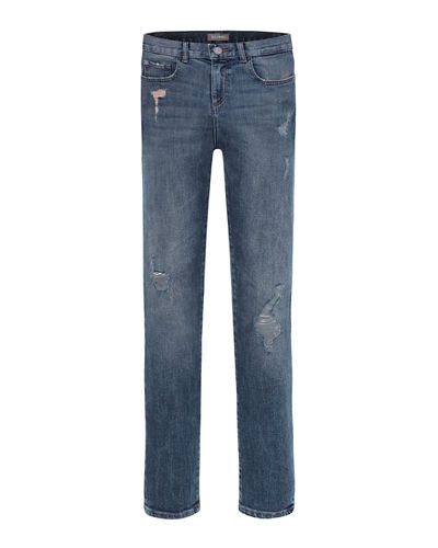 Boy's Hawke Distressed Skinny Jeans, Size 2-7