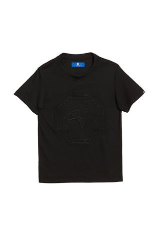 Stefano Ricci Boys' Logo Embroidered Short-Sleeve Tee, Size 6-16