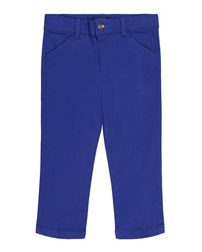 Straight-Leg Twill Pants, Size 8-14