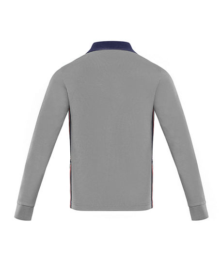 Image 2 of 2: Moncler Long-Sleeve Polo Shirt w/ Side Taping, Size 8-14