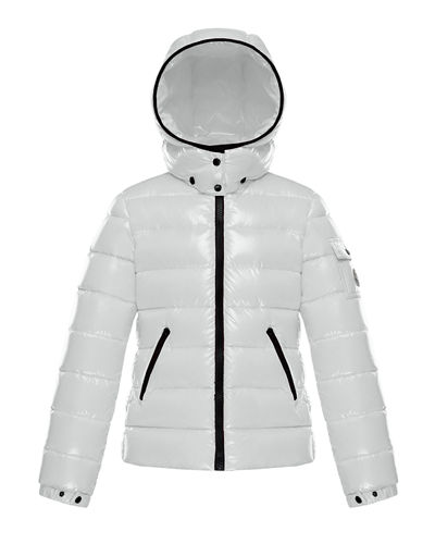 Quilted Hooded Puffer Jacket, Size 4-6