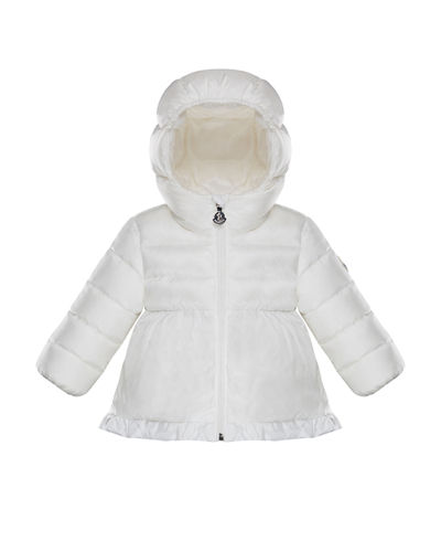 Semi-Quilted Ruffle Hem Puffer Jacket, Size 12M-3