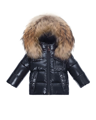 Fur-Trim Hooded Jacket  Size 12M-3