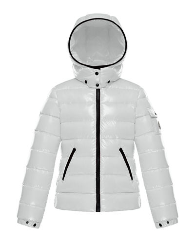 Quilted Hooded Puffer Jacket, Size 8-14