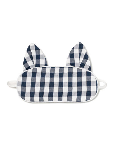 Kids' Kitty Gingham Eye Mask
