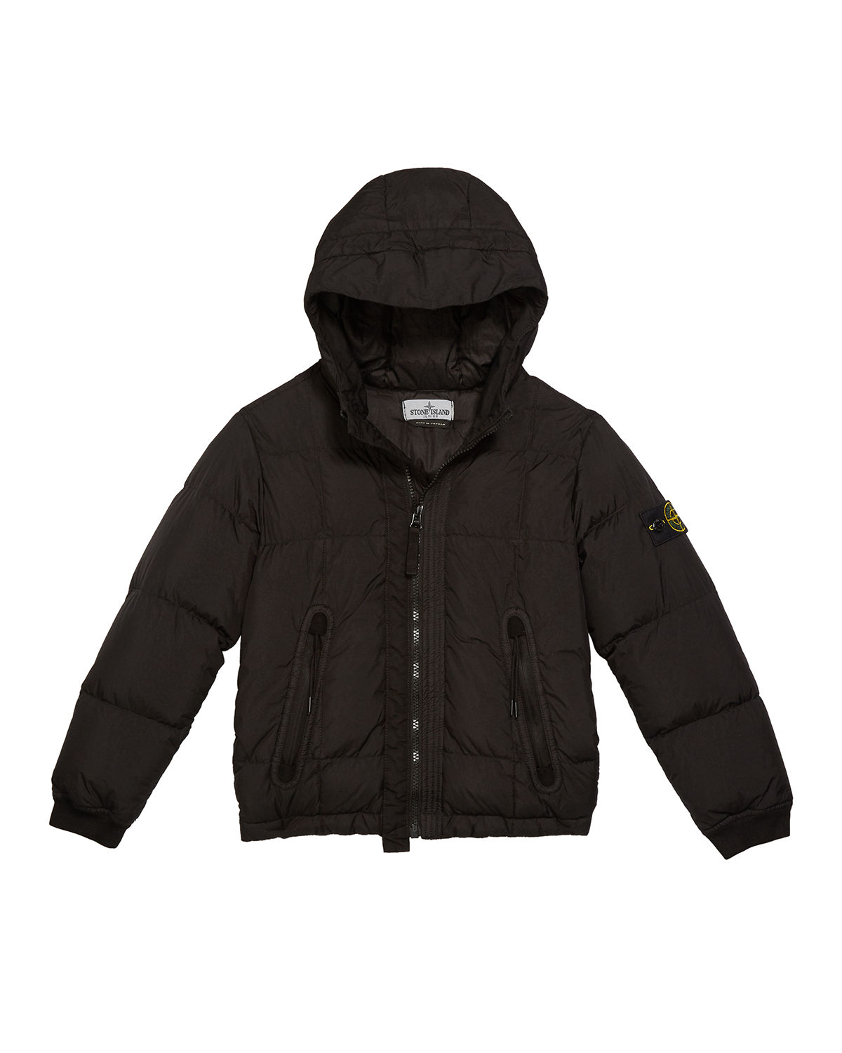 Stone Island Down Puffer Jacket with Hood, Size 2-6